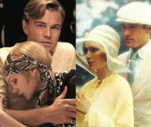 """""""El gran Gatsby"""" (2013) a la izquierda y """"El gran Gatsby"""" (1974) a la derecha"""