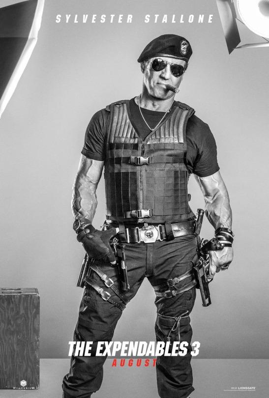 Sylvester Stallone en cartel promocional de 'Los Mercenarios 3'