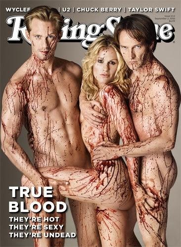 Eric, Sookie y Bill en la portada de Rolling Stone