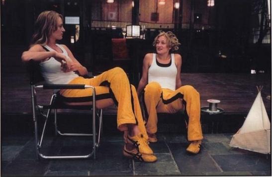 Uma Thurman y su doble Zoë Bell en 'Kill Bill'