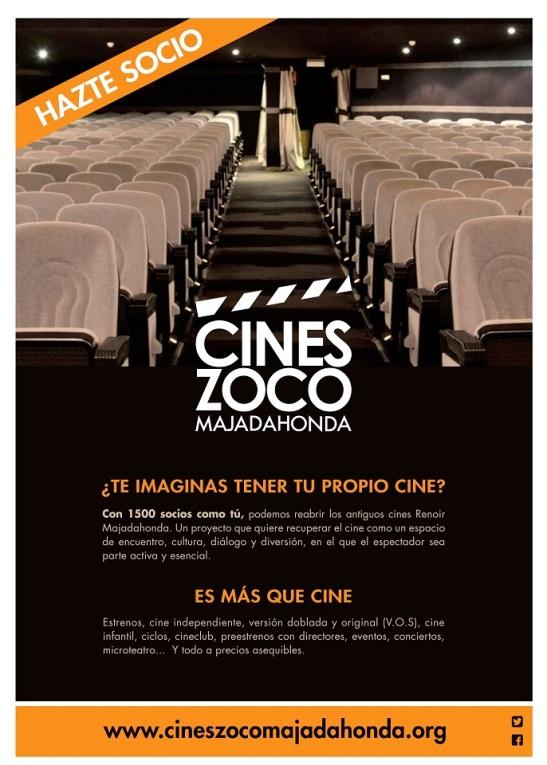 Cartel Cines Zoco Majadahonda