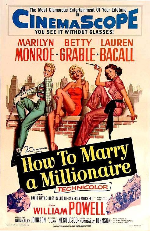 Cartel Cómo casarse con un millonario