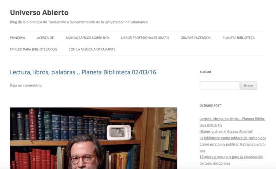 Captura pantalla blog Universo Abierto.